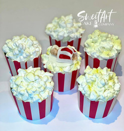 Popcorn Themed Baby Shower Cupcakes