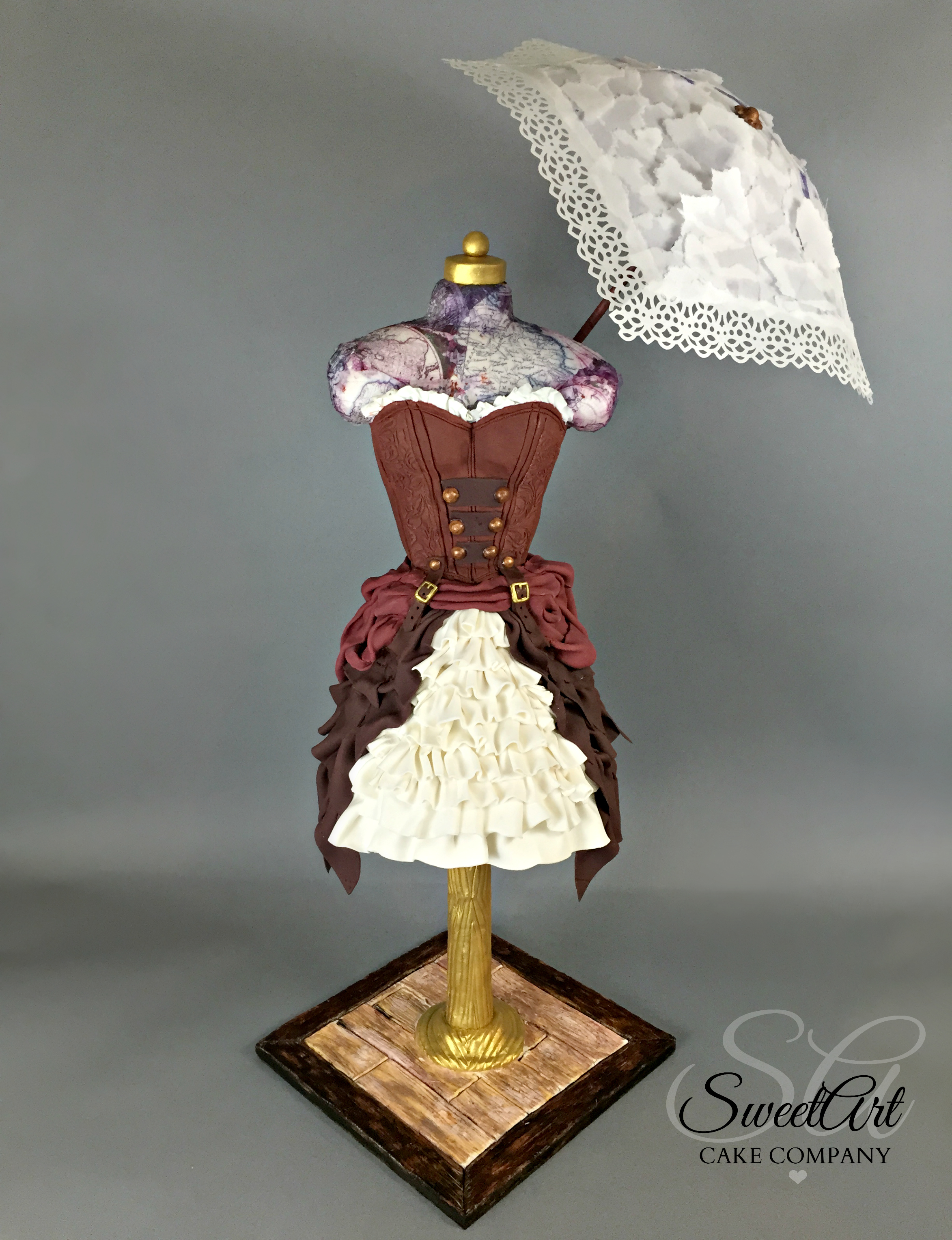 Steampunk 19th Century Fashion Cake