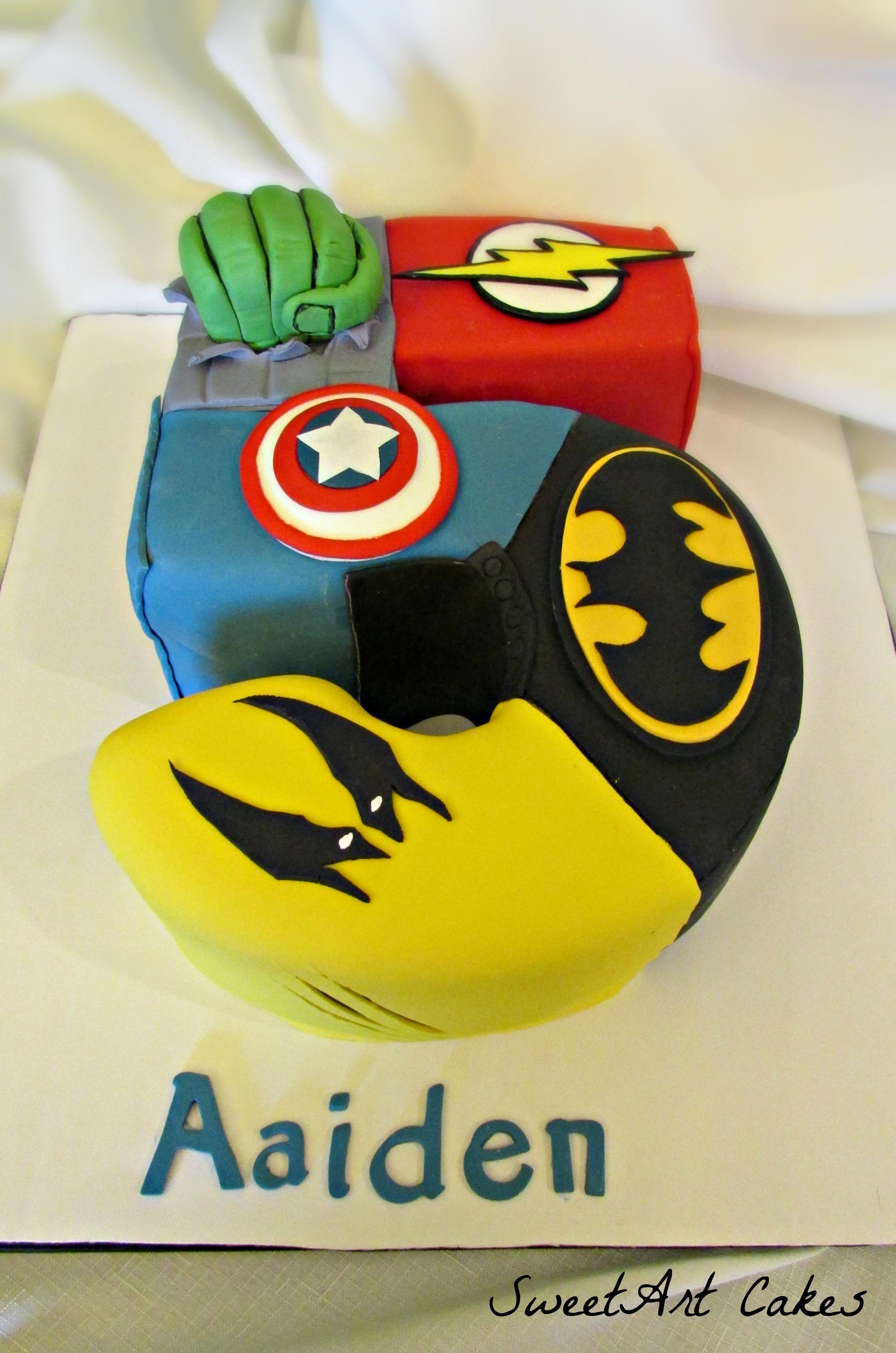 Superhero 5 Cake