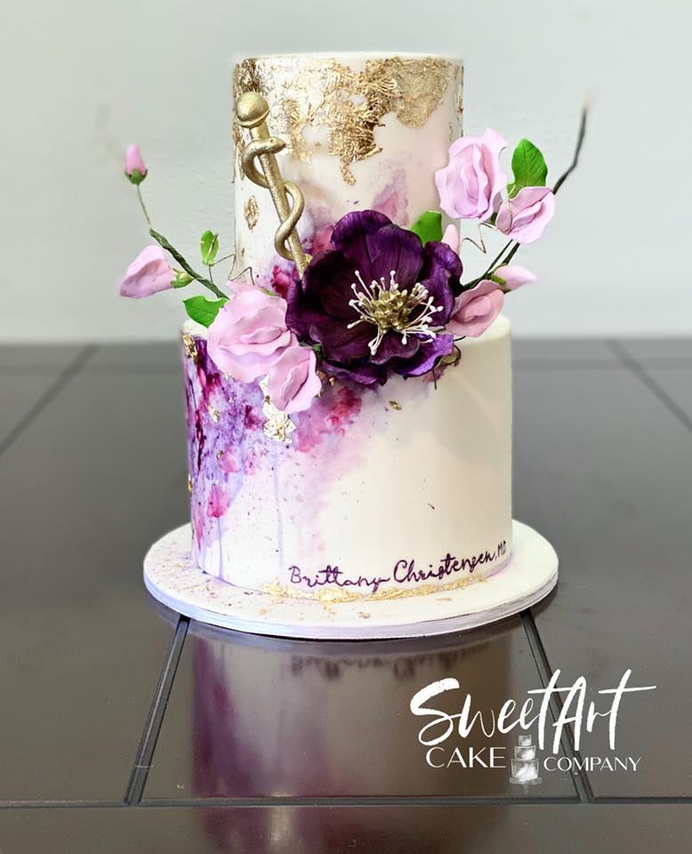 Floral Watercolor Cake