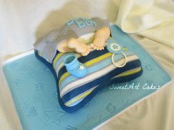 Baby Bum on Pillow Baby Shower Cake