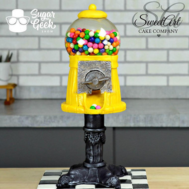 Completely Edible  Working Gumball Machine Cake