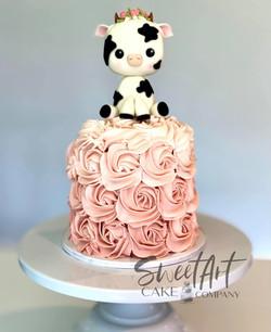 Cow Smash Cake