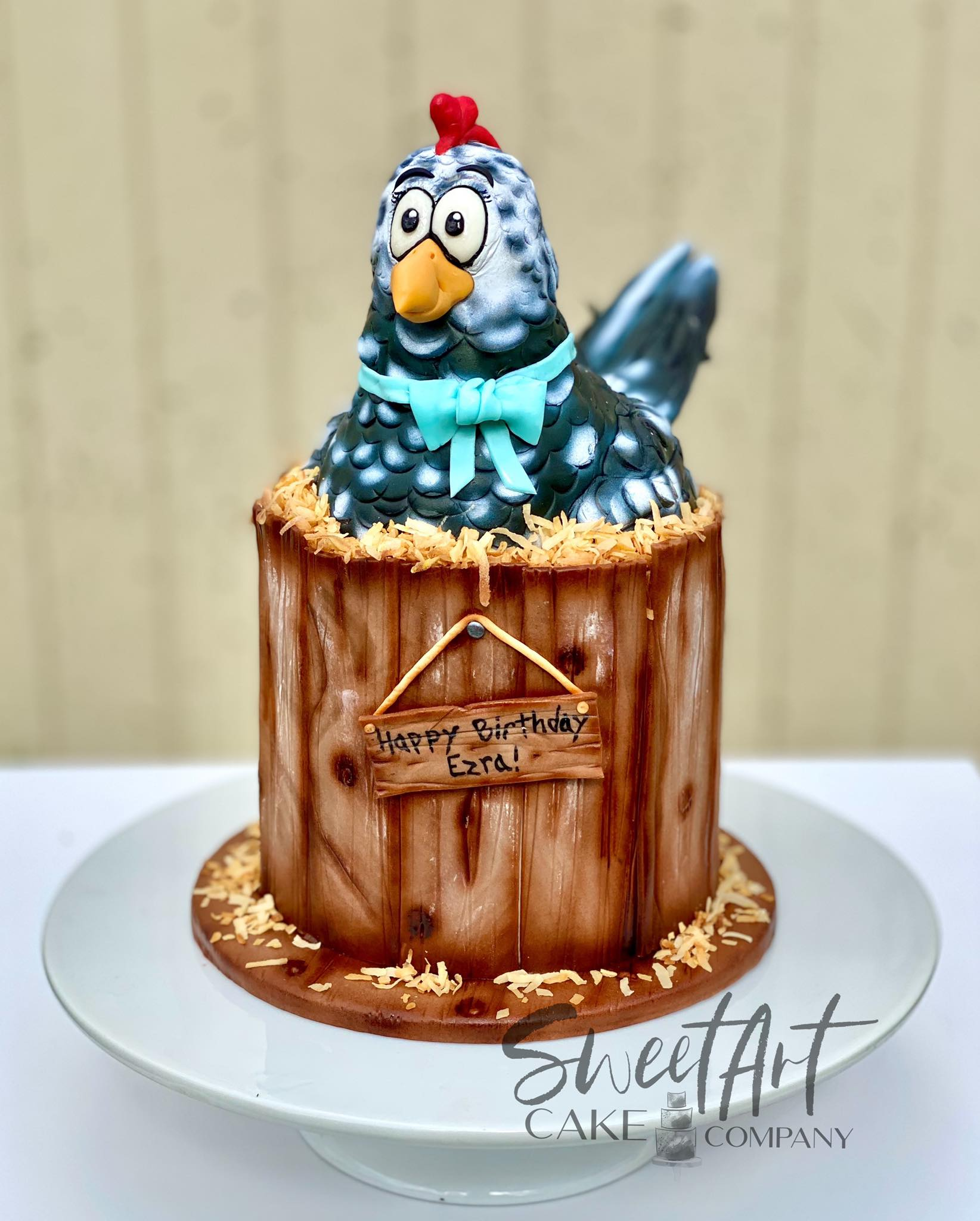 Cartoon Chicken Cake