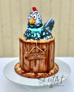 Cartoon Chicken Cake