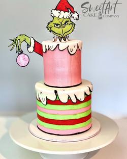 Classic Grinch Cake