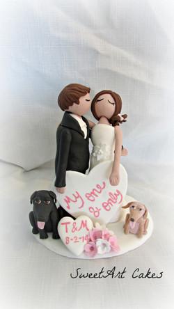 Fondant Wedding Couple Topper