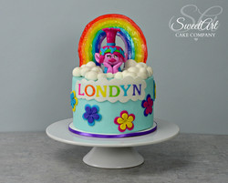 Trolls Poppy Rainbow Cake