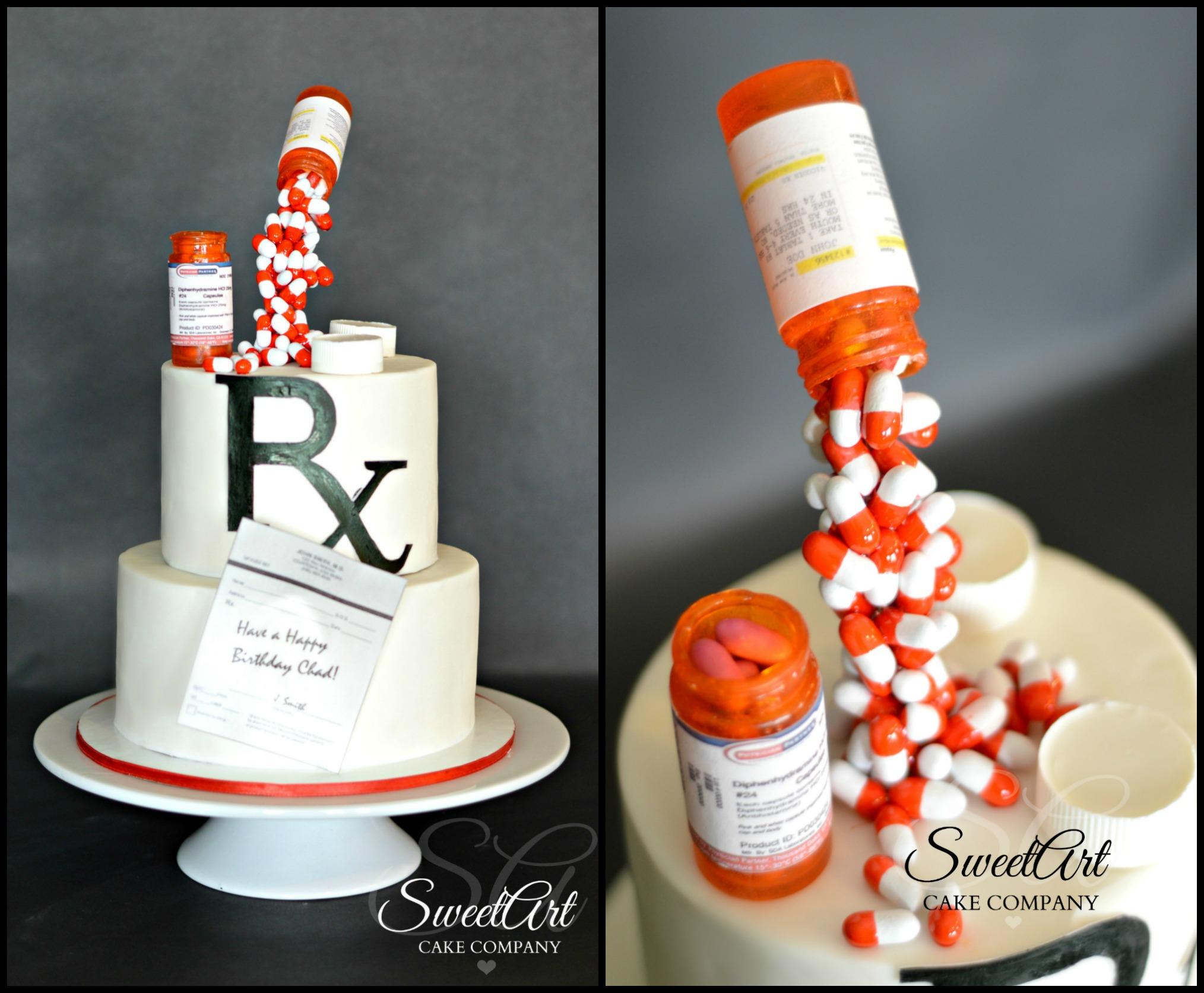 All Edible Pharmacist Cake Gravity