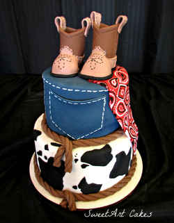 Little Cowboy Baby Shower Cake