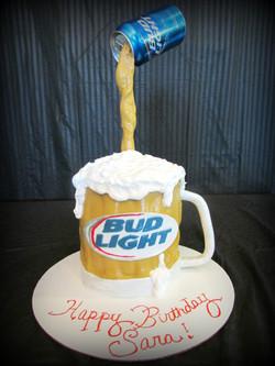 Bud Light Beer Mug Cake