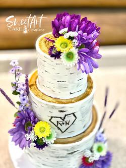 Buttercream Birch Cake
