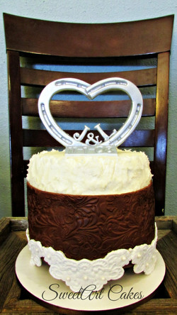 Leather and Lace Anniversary Cake