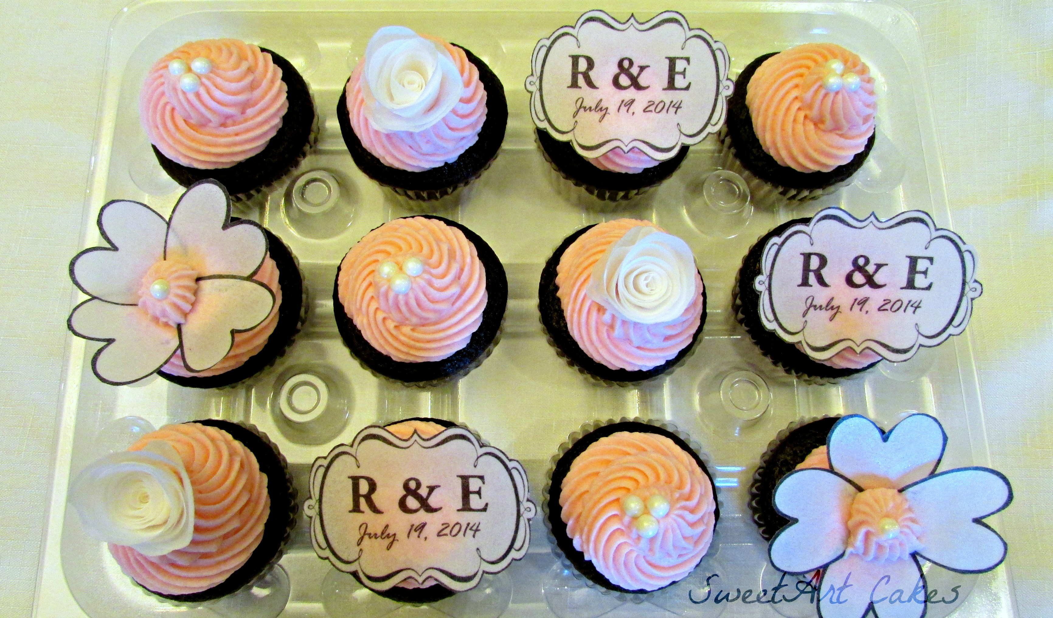Wafer Paper Wedding Cupcakes