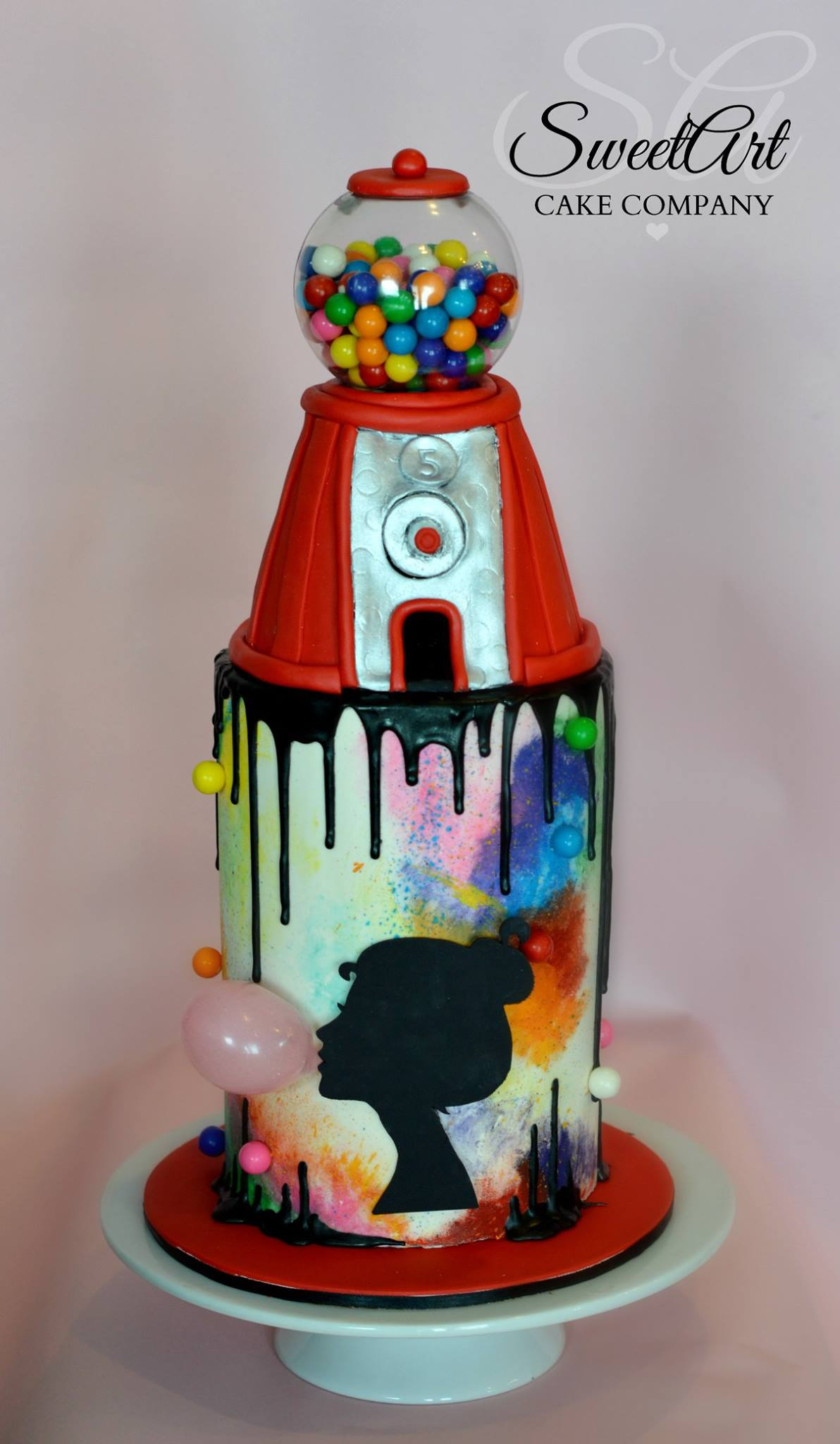 Working Gumball Machine Cake