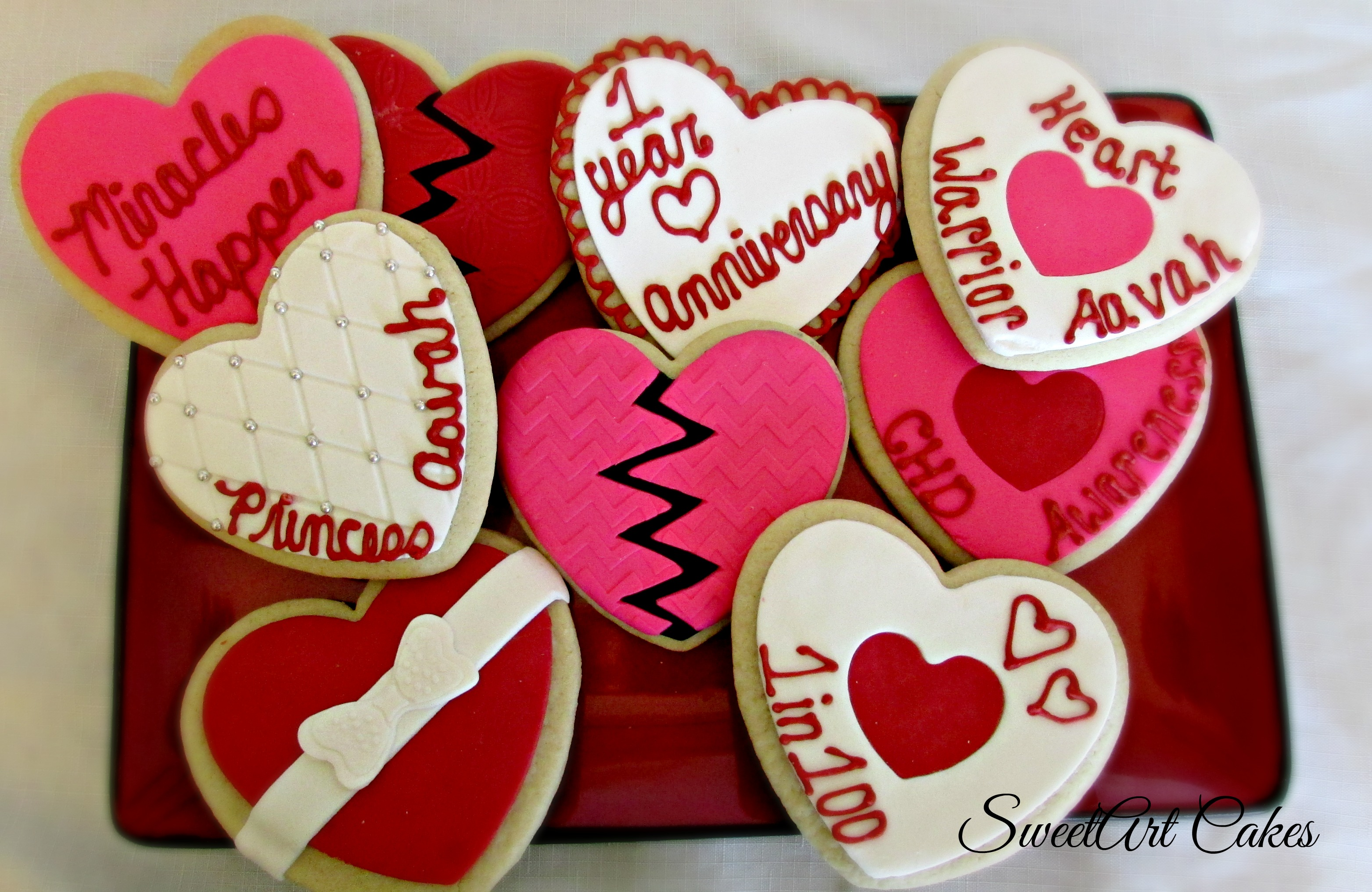 New Heart Celebration Cookies