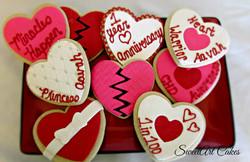 New Heart Celebration Cookies
