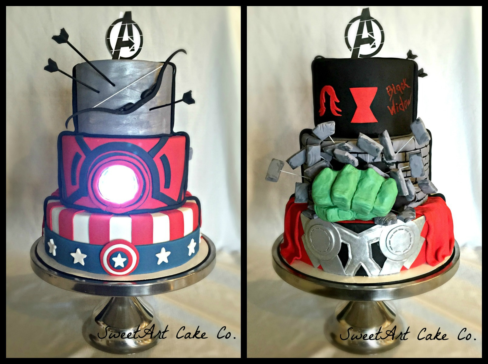 Double Sided Avengers Cake