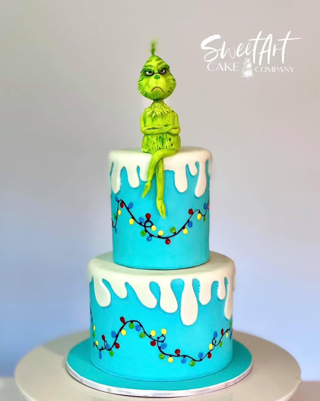 2018 Grinch Cake