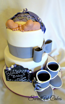 Baby Bum and Booties Cake
