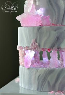 Glowing Crystal Cake