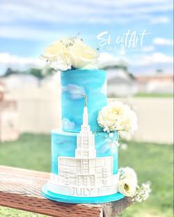 Idaho Falls Temple Anniversary Cake