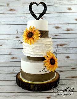 Sunflower Fall Wedding Cake