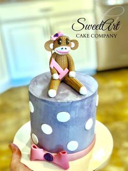 Miss Sock Monkey Cake