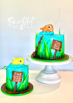 The Big One Fishing Cake
