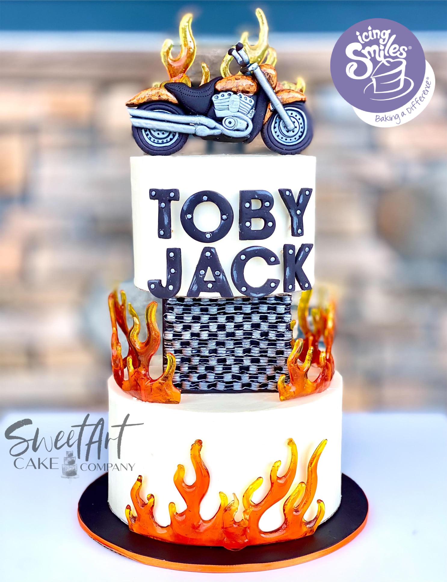 Icing Smiles Motorcycle Cake