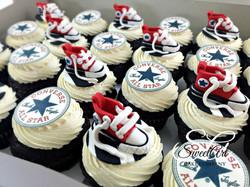 Converse Shoe Cupcakes