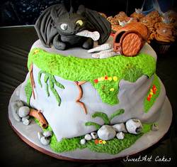 Toothless HTTYD Cake