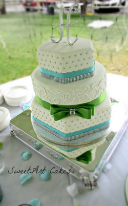 Hexagon Quilted Wedding Cake