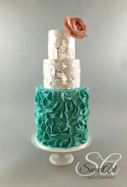 Modern Ruffle & Wafer Paper Wedding