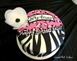 Fifty-licious 50th Birthday Cake