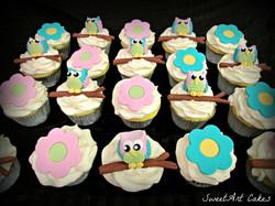 3D Owl Cupcakes