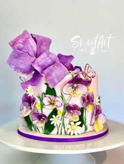 Purple Pansy Cake