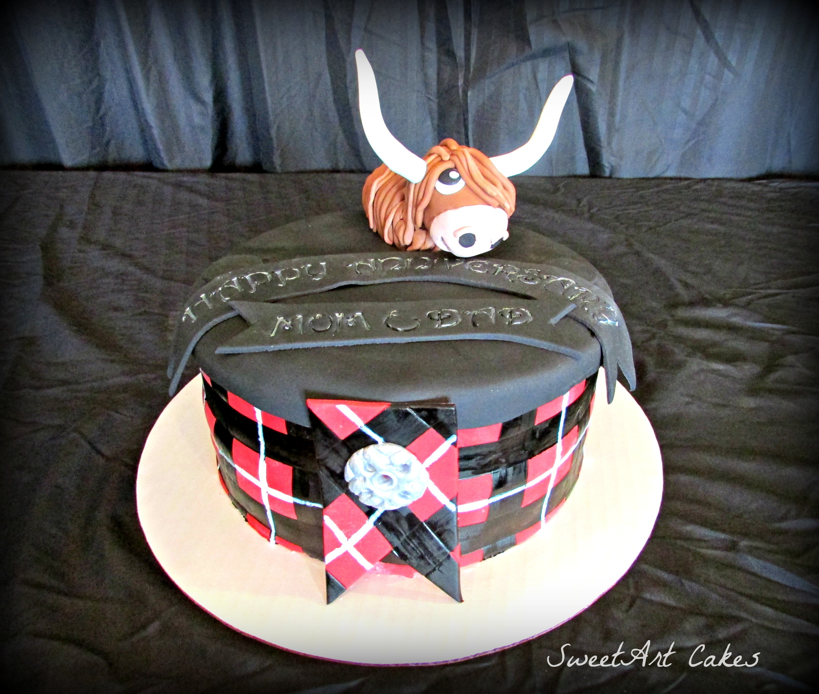 Scottish Plaid Cake
