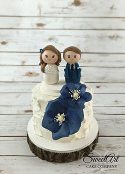 Weeble Topper Wedding Cake