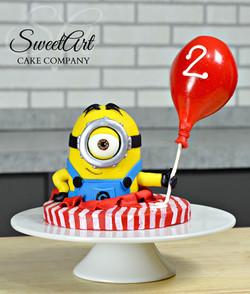 Minion with Balloon Cake