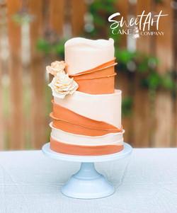 Terra Cotta Wedding Cake