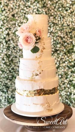 Gold Fault Line Cake