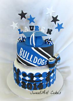 Cheerleader Grad Cake