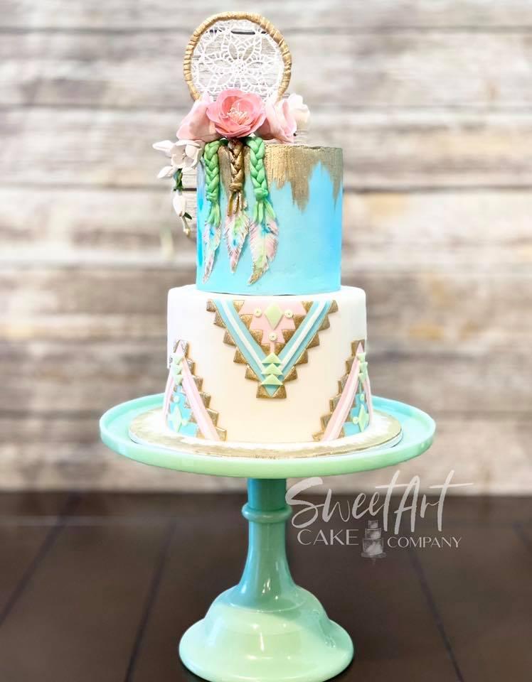 Boho Dreamcatcher Cake