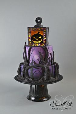 Halloween Isomalt Lantern Cake