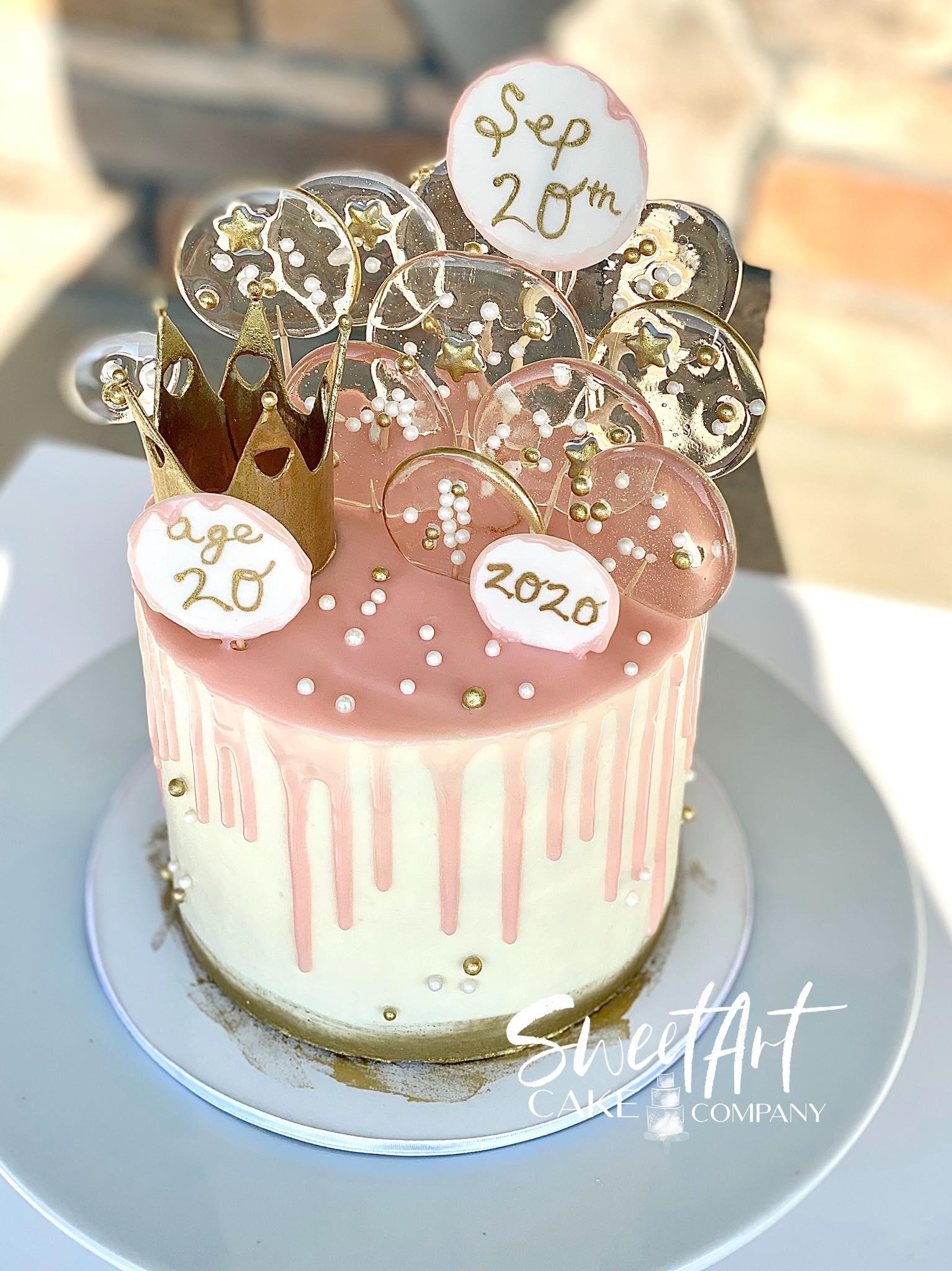 Sugar Decor Drip Cake