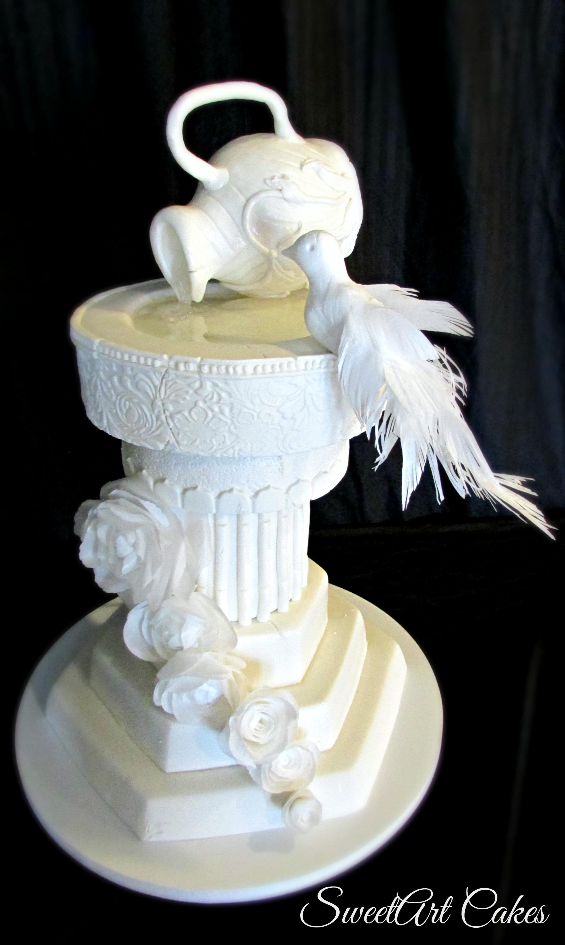 Aged Greek Birdbath Cake