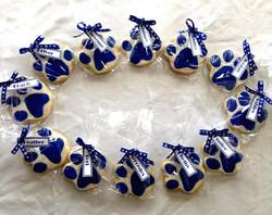 Bulldog Paw Cookies