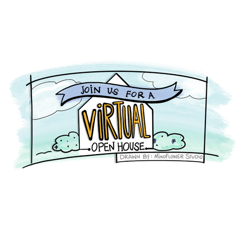 Virtual Open House Banner drawn by Mindflower Studio