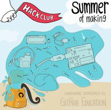 Git Hub Education Hack Club Visual by Mindflower Studio